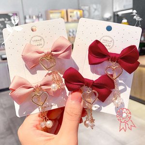 Coreano Net Butterfly Red Love Love Love Pendant Pendy Clip Heart Cute Hairpin Ponytail Hair Ornament Girl
