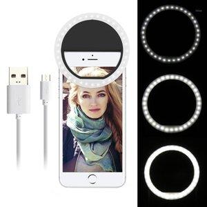 Tragbare Mini Selfie LED Ring Flash Smartphone Selfie Kamera Schönheit Licht Universal Light Fill Telefon Beleuchtung1