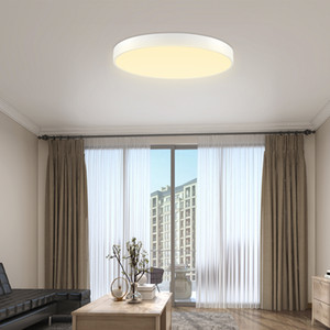 48W Led Ultra-Thin Ceiling Lamp 600Mm Led Ultra-Thin Ceiling Lamp Round Warm White Light 2 Piece Set