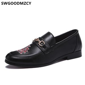 أحذية الرجال مكتب رسمي مساء اللباس للرجال أحذية بدون كعب الرجال كوافير الجلد اللباس مصمم عالية الجودة AYAKKABI