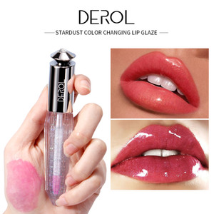 DEROL Temperature Change Color Lip Gloss Long-lasting Pink Moisturizer Lipstick Lip plumper Oil Moisturize Lip Tint 0260
