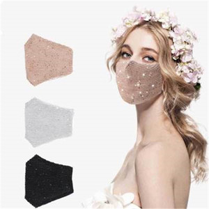Fashion Bling Bling Sequins Protective Mask PM2.5 Dustproof Mouth Masks Washable Reusable Women Face Mask DHL Free Shipping K324