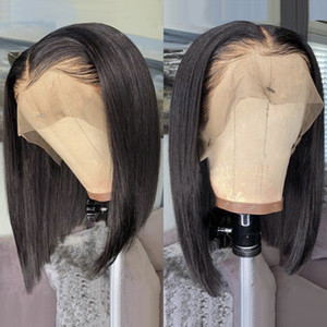 Wig Straight Short Bob Lace Front Wigs 13x4 Lace Front Human Hair Wigs Pre-plucked With Baby Hair J