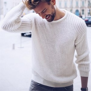 Mens Fashion Cotton Sweater Pullover Casual Jumper For Male Knitted Korean Style Clothes Plus Size Sweaters 201221