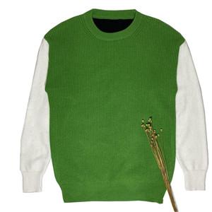 أزياء الخريف والشتاء الرجال جولة الرقبة فضفاضة متماسكة سترة عالية الجودة زوجين عارضة البلوز سترة الحجم S-XXL