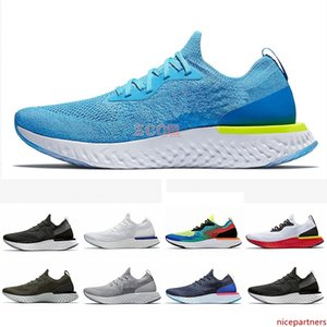 Belgium Epic React Instant Go Fly men women running shoes Blue Glow black white causal mesh Breathable sport Athletic trainer sneakers