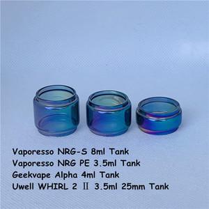 Vaporesso NRG-S NRG PE Geekvape Alpha Uwell WHIRL 2 3.5ml 25mm Tank Rainbow Bulb Glass Tube 3.5ml 4ml 5ml 8ml Bubble