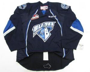 las mujeres de Hombres Jóvenes de encargo de la vendimia WHL láminas de Saskatoon 2009-Pres carretera Premier Hockey Jersey talla S-5XL o costumbre cualquier nombre o número
