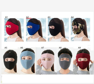 Winter Polar Fleece Face Mask Women Mens Full Head Cover Skimask Trooper Masks Outdoor Cycling Motorcycle Facekini Headwear Scarf F101602