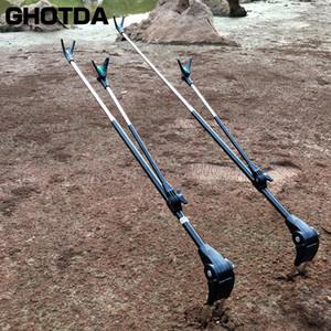 High Quality 1.7M 2.1M in acciaio inox telescopica canna da pesca a mano Rod basamento del supporto della staffa di pesca regolabile Strumento 201022