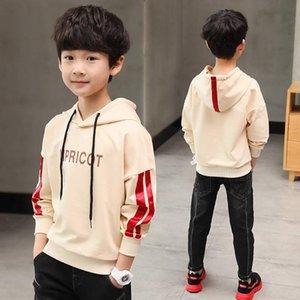 primavera suéter y camisa grande con capucha sección delgada niño de los niños chaqueta del otoño de manga larga de los niños del muchacho de la ropa