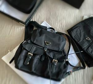 2021 Mode frauen männer schwarze rucksäcke mittel nylon schultaschen neue adrette stil