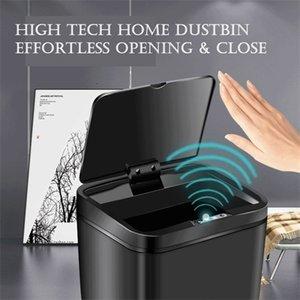 Inteligente de alta capacidad de 12L cubo de basura de la basura del sensor automático rápido puede Papeleras utensilios de cocina en casa