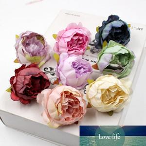 5pcs / lot 5 cm de flores flores de papel decoración de la boda de la flor artificial de alta calidad de la flor del Peony Cabeza seda DIY Craft Garland
