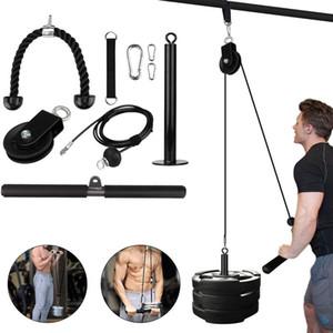 Home Diy Fitness Playe Puble Cable Веревка Система прикрепления Инструмент Набор набор Загрузочный штифт Подъемный рычаг Бицепс Triceps Рука прочностная тренажерный зал Учебное оборудование