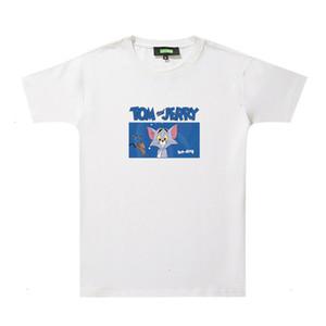 Cat and mouse T-shirt women's short sleeve 2020 new Korean fashion brand white bottom T-shirt couple's T-shirt9D5H