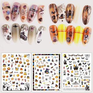 Halloween Nail Art Stickers Decals Self-Adhesive DIY Nail Decals Sticker for Halloween Party