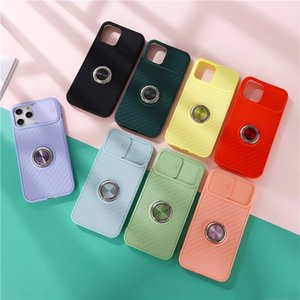 Support Ring Holder soft case for iphone 11 pro x xs max xr 8 7 6 6S plus SE 2 matte silicone phone cover NOTE 20 PRO fundas