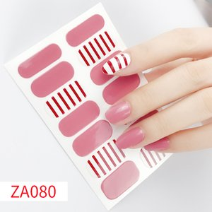 14tips Sheet ZA Series Fashion Nail Art Stickers Collection Manicure DIY Nail Polish Strips Wraps for Party Decor