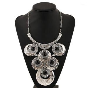 Lzhlq 2020 marca de moda boho colar de colarinho étnico gargantilha colar vintage cigano maxi declaração colar mulheres jóias1