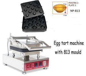 Modèle 813 13 trous commerciaux Egg Tart machine Tartelette Shell Maker cône gaufre Egg fabricant bol gaufres