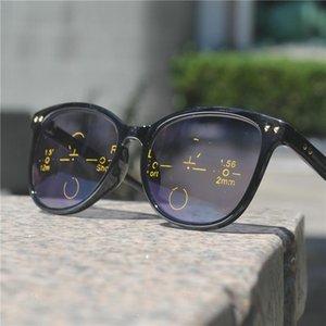 Óculos quadrados Vista Multifocal Reader Transition Sunglasses FML Pontos de Mulheres Progressivas para óculos perto de Black Reading Far Emkxf