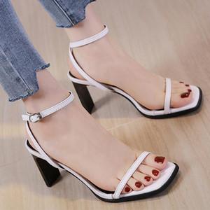 European Open toe narrow band slingback women pumps buckle band gladiator sandal netcelebrity strange high heels shoes women2020