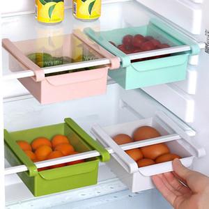 Étagères de cuisine Cuisine Réfrigérateur Réfrigérateur Rack Frigo Congélateur Titulaire du tiroir Pull-Out Organisateur Space Savant Savant Savirateurs GWC5547