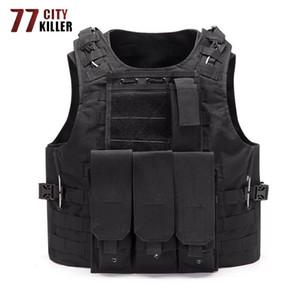 77City Assassino Combate Descarregando Caça Molle Vest Soldier Tático Vest Exército CS Jungle Camuflagem Camuflagem Shooting