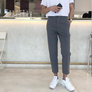 Uview Men's Pants Streetwear Trousers Clothes For Man Casual Pleated Pants Metal Zipper
