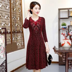 X0kgN Bahar ve yeni kadın sonbahar moda mizaç orta yaşlı anne koyun put ve yaşlı anne elbise d5KFu gidip elbise