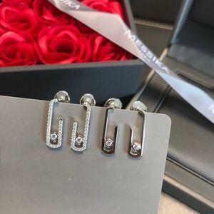 Boucles d'oreilles Messika Messika 925 Sterling Sterling Inlaid de Zircon célèbre Bijoux Fine Fine Mode pour Mère Femmes Grossales 201113