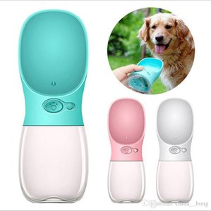 Dog Water Bottle Feeding Outdoor Travel Play Easy Take Cat Water Cup White Blue Pink Pet Supplies 2018 Newest Gifts 350ML