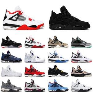 4 mens zapatos de baloncesto de saténJordán 4s 2020 rojo fuego gato negro de cemento blanco frío hombres grises entrenador las zapatillas de deporte