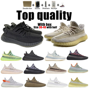 Kanye West Top Quality Hombres Mujeres Running Zapatillas Cincillo Yecheil Negro Reflexivo Yeezreel Earth Lino Asriel Zebra Trainers Sneakers 36-48