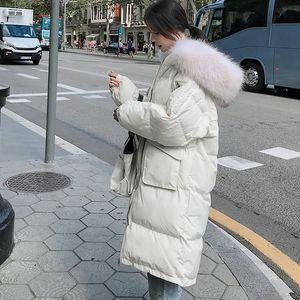 Parkas Women 2020 New Korean Loose Jacket Women's Winter Clothing British Style Down Cotton Long Section Q88