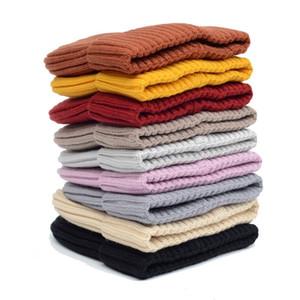 Lana lavorato a maglia Cappellino invernale Warm Cappello Con marea e velluto spesso cappello caldo degli uomini di colore solido delle e Baotou Cap AHC2770 delle donne