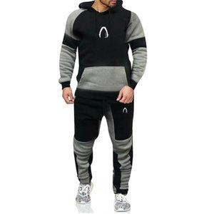 2020 Designer Outono Inverno Mens Conjuntos Hoodies Calças Peças Tracksuit Marca Homens Hoodie Sweatpants Casual Pant Sportswear