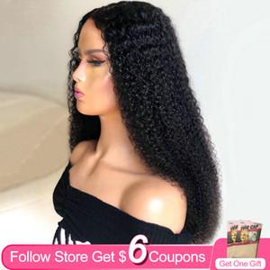 Kinky Curly 30-дюймовый 13x4 кружевные фронтские парики для женщин Aircabin бразильский натуральный цвет My My волосы человеческих волос без глееных кружевных париков