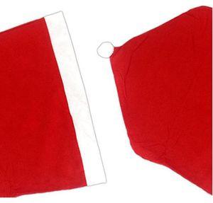 Christmas Sed Sed Cover Creative Red Seat Covers Restaurant Sedia Cappello Ornamenti Merry natale vacanza allegro natale vacanza EWC3360