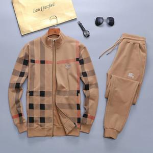 2020 degli uomini del progettista con cappuccio Pantaloni Set con cappuccio Tuta Mens tute Patchwork Solido Nero a colori di alta qualità mens tute