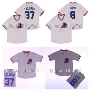 37 Nuke Laloosh Jersey 8 Crash Davis 1988 Bull Durham Beyzbol Jersey Gri Beyaz Kazak 100% Dikişli