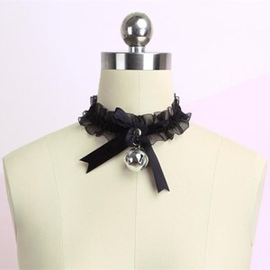 Women's Cute Collar Gothic Simple Sexy Lace Lovely Pendant Bow Knot Bell Choker Necklace Neck Dress Girls Party Jewelry New