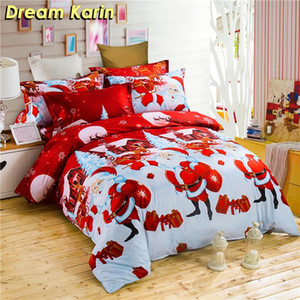 3D Printed Merry Christmas Bedding Set Festival Gifts Kid Duvet Cover Single Queen King Size Quilt Covers Elk Bed Linens Sets