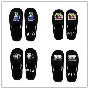Hot Game tra Stati Uniti Slipper Home Sandali Sandali Boot Black Cartoon Anime Flat Bottom Pantofole in cotone Inverno antiscivolo Scarpe da pavimento caldo CZ122804
