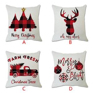 Christmas Cotton Linen Decorative Pillowcases Polyester Throw Pillow Case Striped Geometric Pillowcase Home Sofa Decor 912