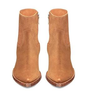 Heißer Verkaufs-2020 Mann Paris Lukas Boots echtes Leder Suede Spitzschuh Zipper Fashion Show Qualität Stiefel Schuhe