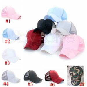 Камуфляж из бейсболки из бейсболки вымытые хлопковые грязные булочки шляпы Pony Cap Unisex Visor Cap Hat Открытые Оснастинные шапки Party Hats Rra4080