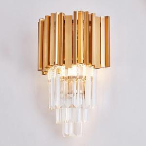 Jmzm cristallo moderna della lampada da parete Oro Soggiorno cristallo Nordic sfondo semplice Corridoio Corridoio TV parete camera da letto Lampada da comodino