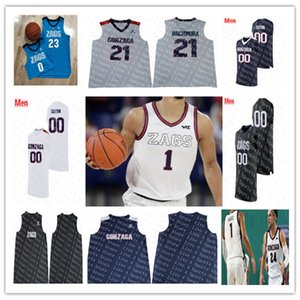 Özel 2021 Gonzaga Bulldogs Koleji Zags Jersey Basketbol Corey Kispert Drew Timme Joel Ayayi Jalen Suggs Andrew Nembhard Anton Watson 4XL